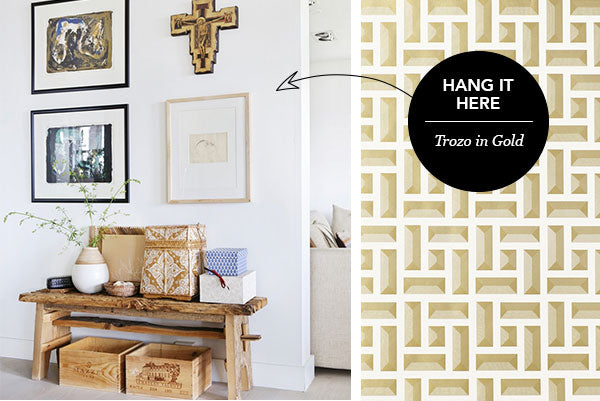 Hang it Here: Trozo in Gold