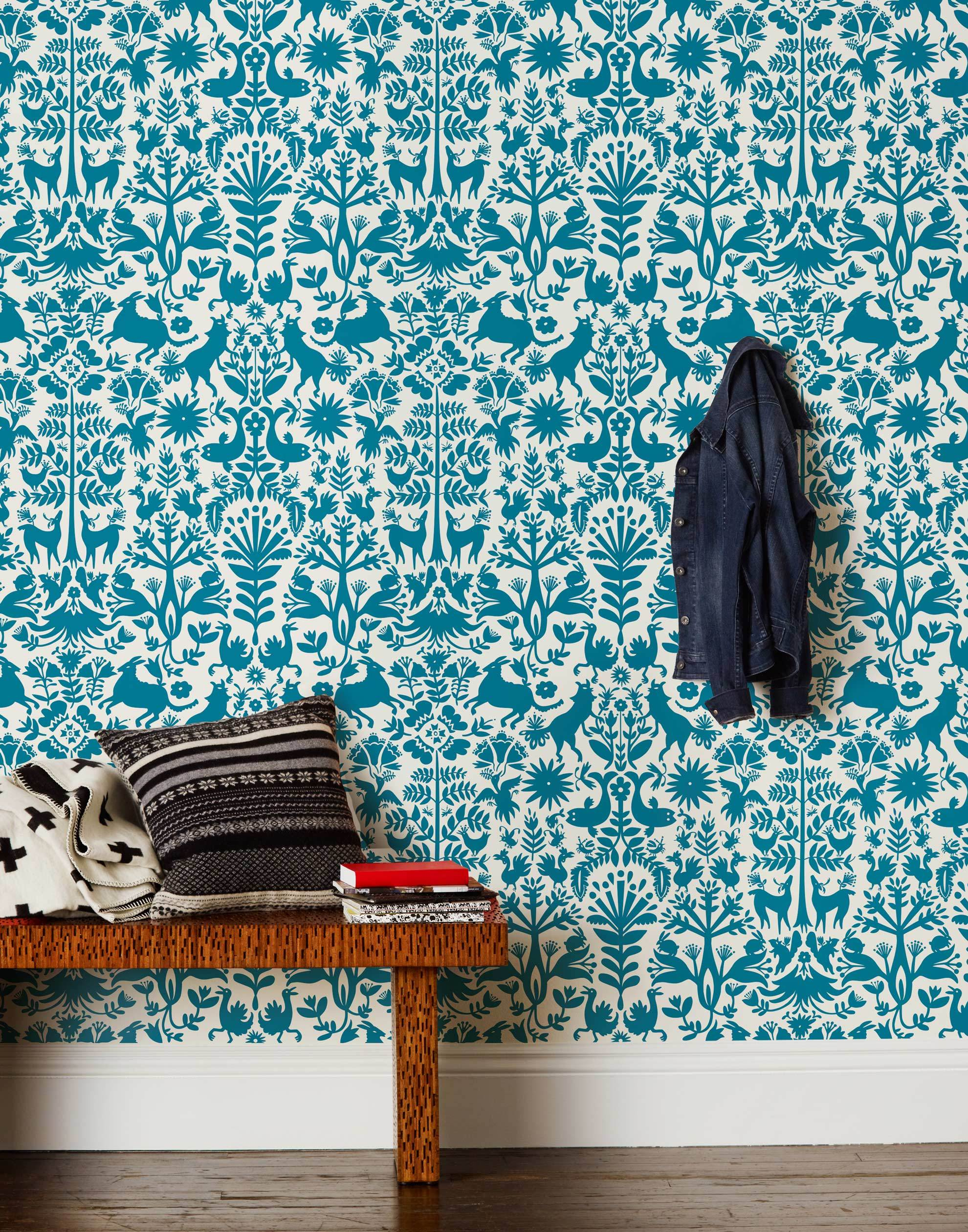 Otomi Turquoise Wallpaper Hygge Amp West