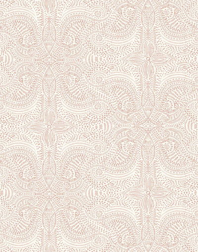 Andanza (Blush) wallpaper featuring a delicate pattern created using a stippling technique in pink on white