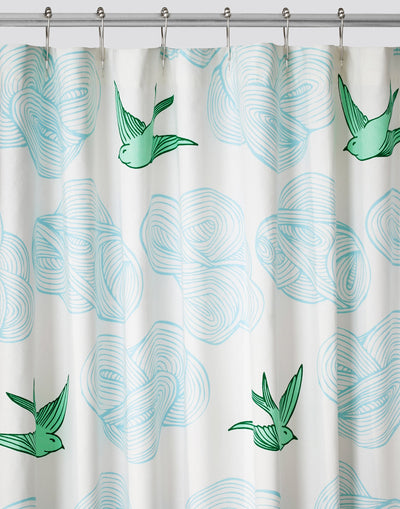 Daydream (Green) Shower Curtain-Hygge & West