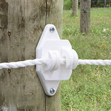 White Wood Post Claw Insulator