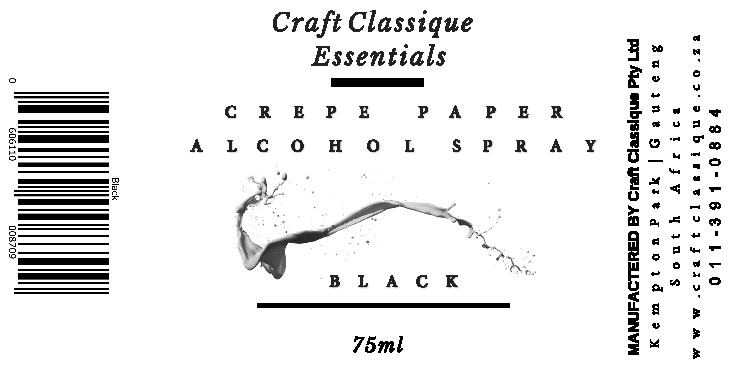 Black | Alcohol Spray