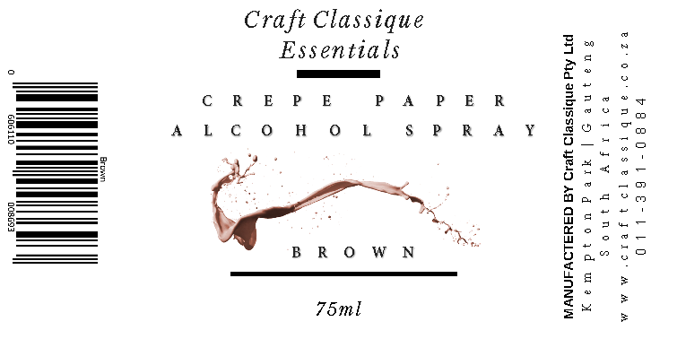Brown | Alcohol Spray