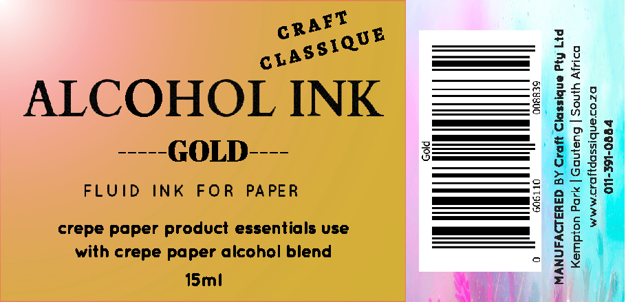 Gold | Alcohol Ink