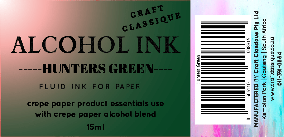 Hunters Green | Alcohol Ink