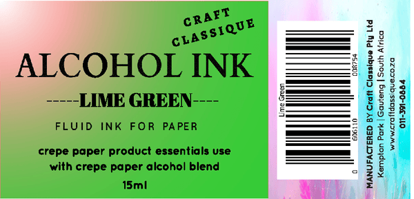 Lime Green | Alcohol Ink