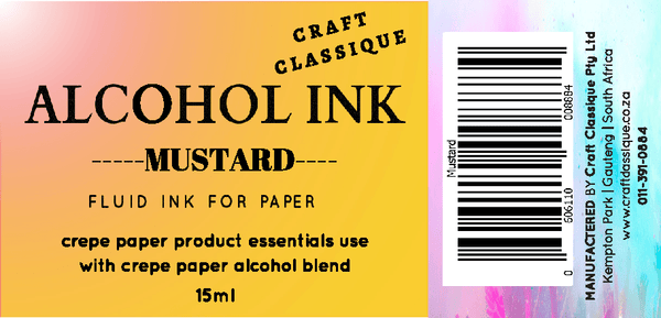 Mustard | Alcohol Ink