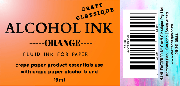 Orange | Alcohol Ink