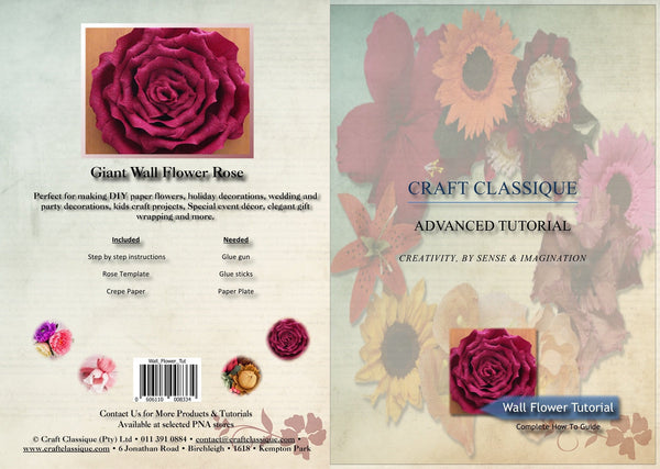Wall Flower - Tutorial - Craft Classique Pty Ltd