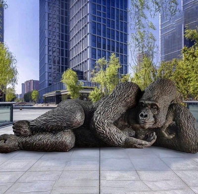 A Giant Gorilla Sculpture Arrives in Hudson Yards