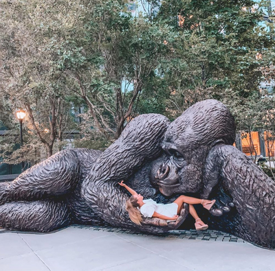 World's largest bronze gorilla sculpture grabs New Yorkers' attention