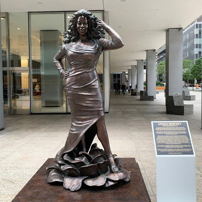 Oprah and Goodall Among 10 Women Whose Statues Joined 145 Sculptures of Men in NYC