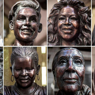 PHOTOS: 10 bronze statues of inspirational women in NYC by Statues for Equality""