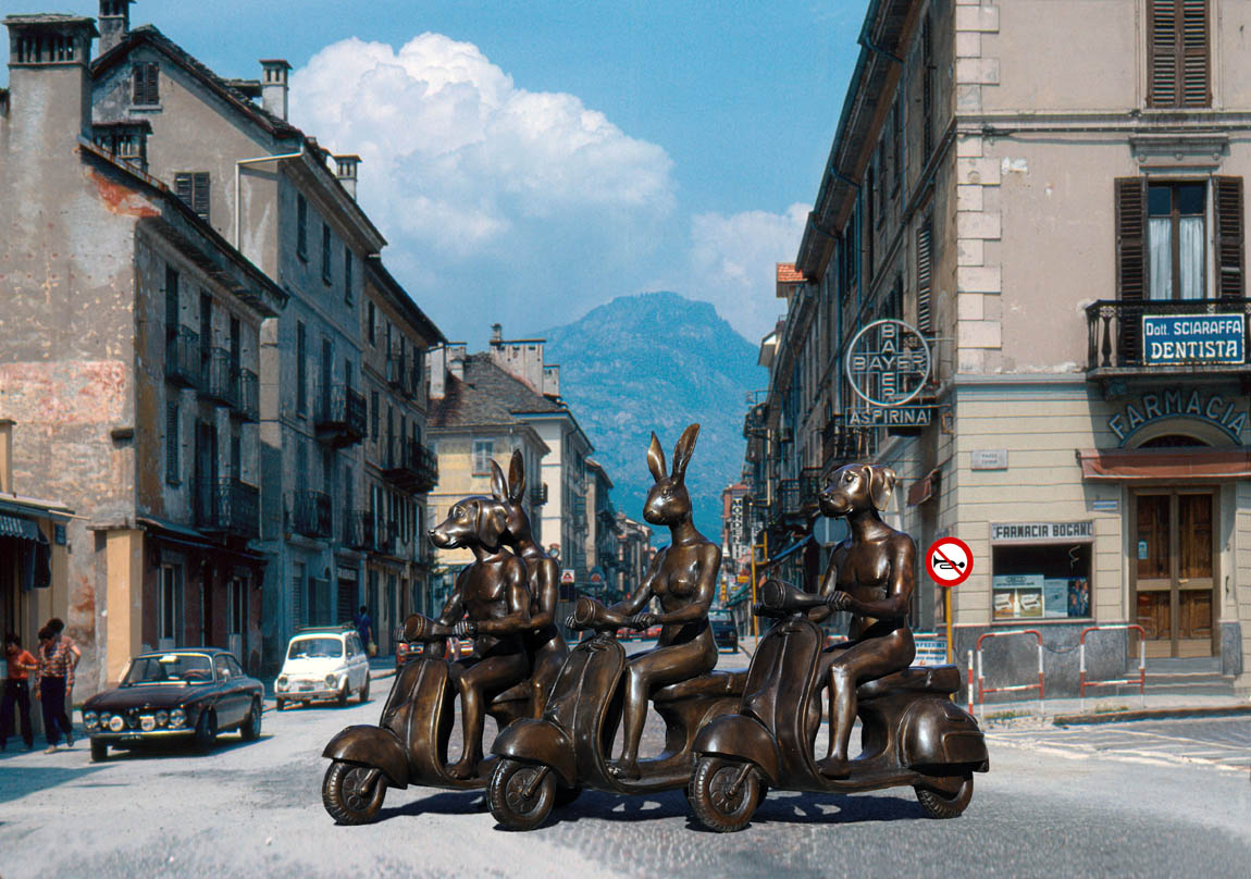 Vespa riding in Italy