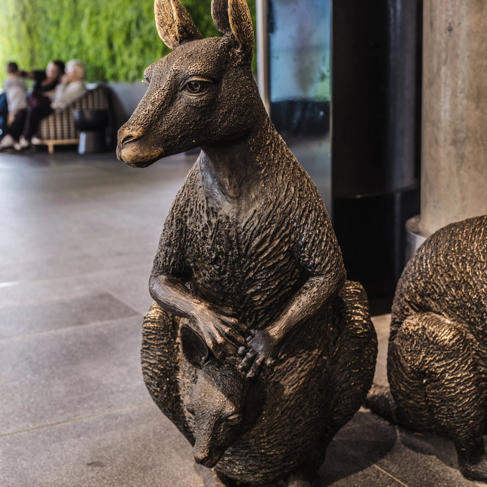 Swamp Wallaby Family (Bronze Sculpture)