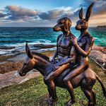The travellers have arrived (Bronze Sculpture)