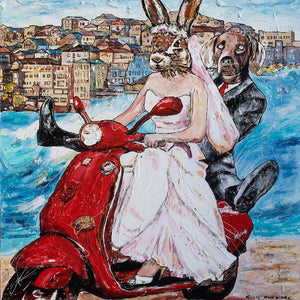 She was a Bondi bride (Print)