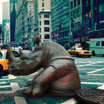 Come out, come out Rhino, wherever you are (Bronze Sculpture, Large)