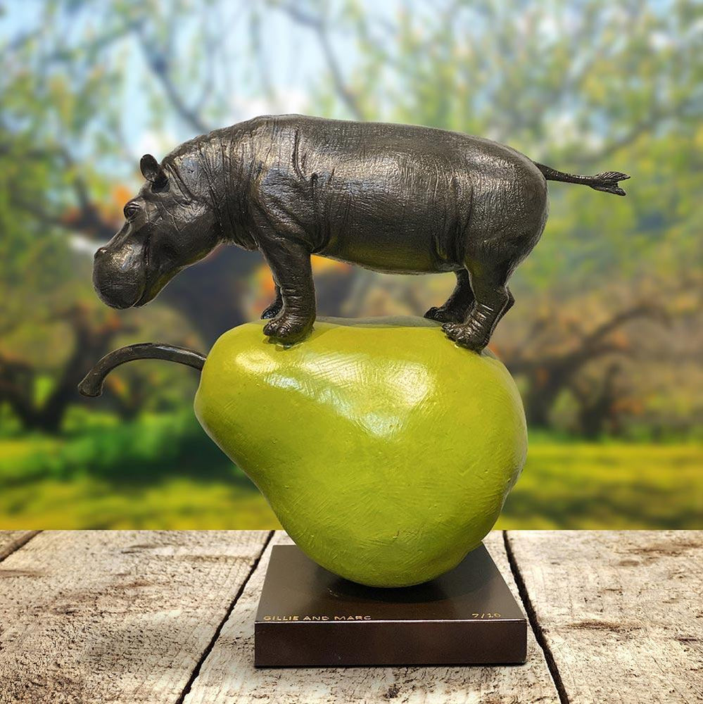 They were the perfect pear (Bronze Sculpture)