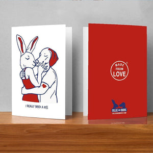 I really need a kiss (Greeting Card)