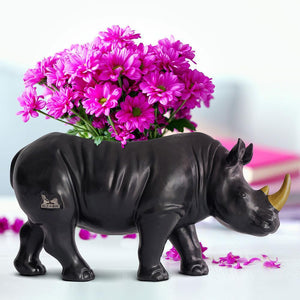 He grew more beautiful every day – (Rhino Vase)