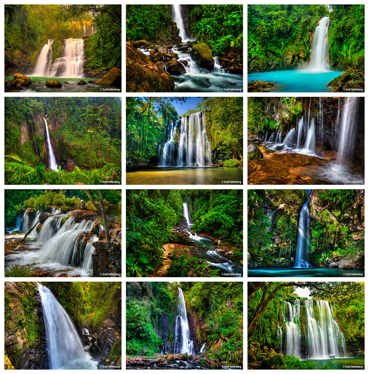 Costa Rica Waterfalls Tour Grid
