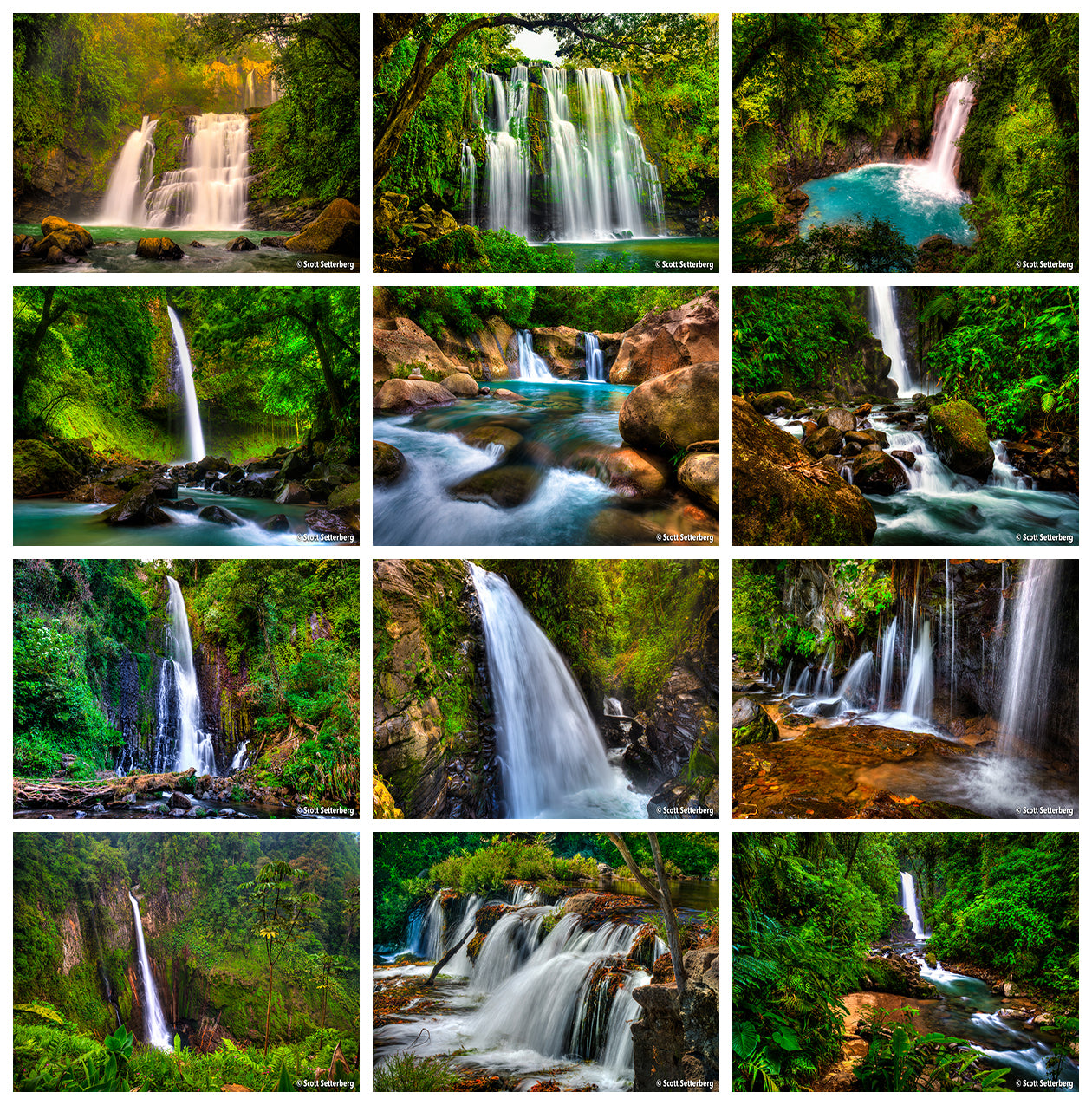 Best Waterfalls In Costa Rica Grid