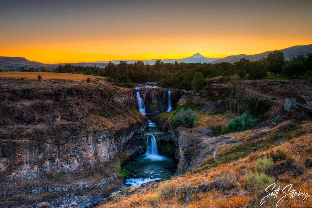 White River Falls Sunset, Oregon