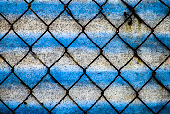 Silver Blue Chain Link