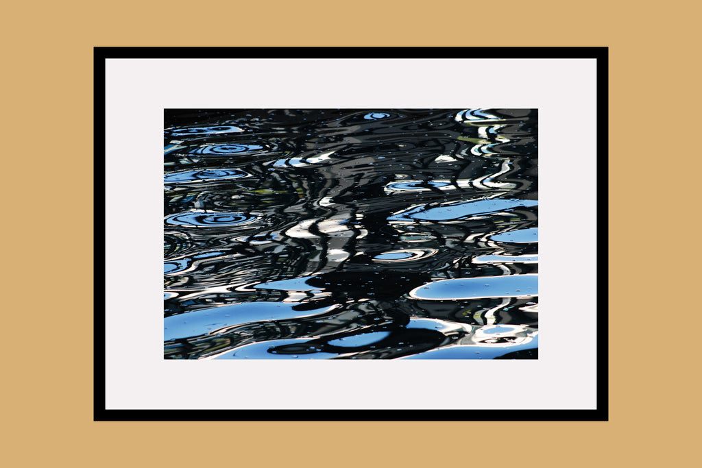 Blue Water Garden Framed