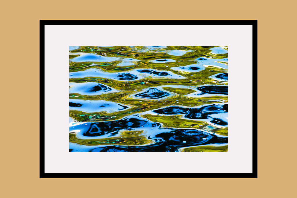 Gold Water Garden Framed