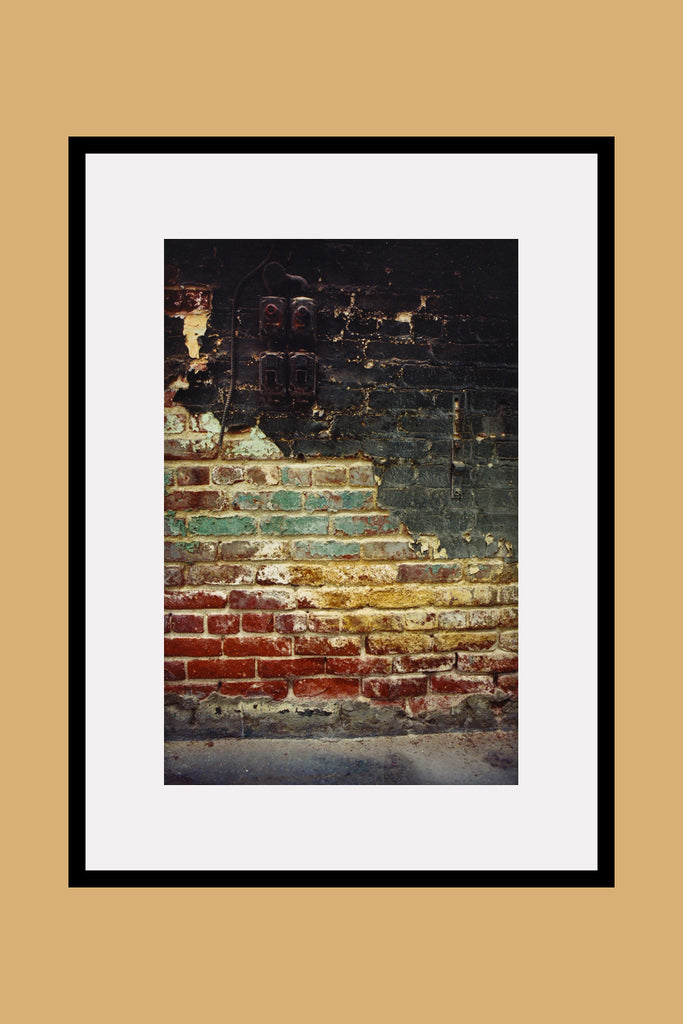Sun Chemical Brick Wall Framed