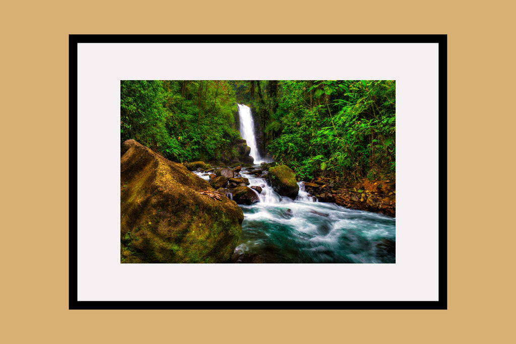 Templo Waterfall Framed