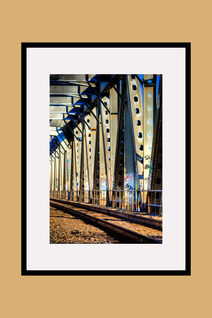 Ventura Train Bridge Framed