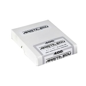 Arista EDU Ultra 400, 2.25x3.25, 50 Sheets, Black and White Film