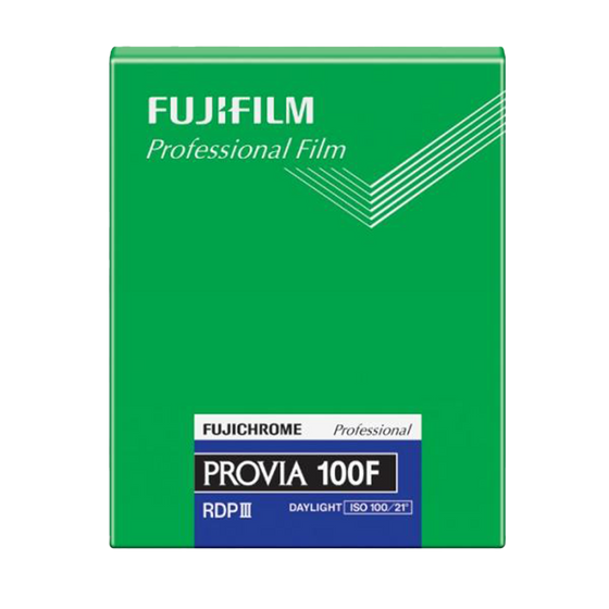 FUJIFILM Fujichrome Provia 100F, 4x5/20 Sheets Color Film
