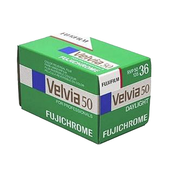 FUJIFILM Fujichrome Velvia 50 ISO, 35mm, 36 Exp., Color Film