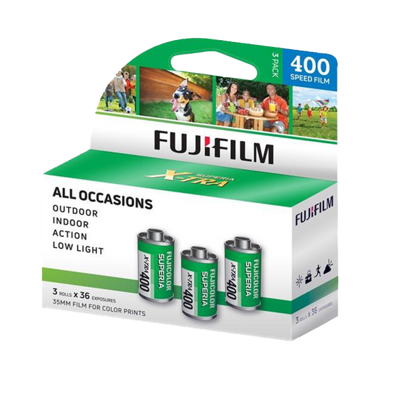 FUJIFILM Superia X TRA 400, 35mm, 36 Exp., Color Film, 3 Pack