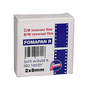 Foma Fomapan R100 BW Reversal, D8, 2x8mm, Black and White Film