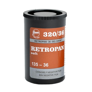 Foma Retropan 320 Soft, 35mm, 36 exp., Black and White Film