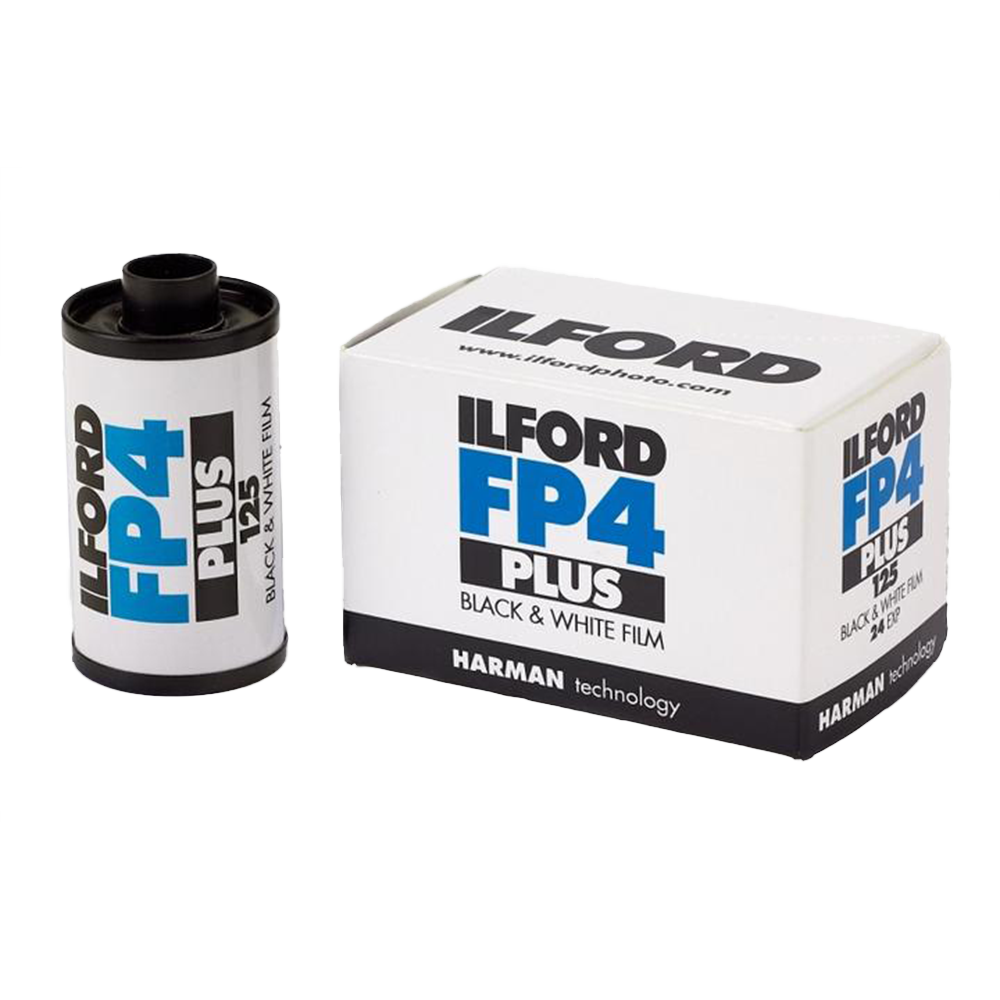 Ilford FP4+, 35mm, 24 exp., Black and White Film