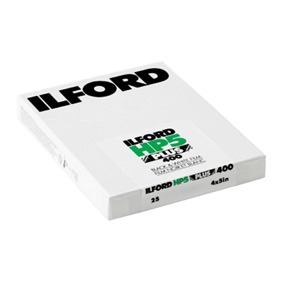 Ilford HP5+, 4x5, 25 Sheets, Black and White Film