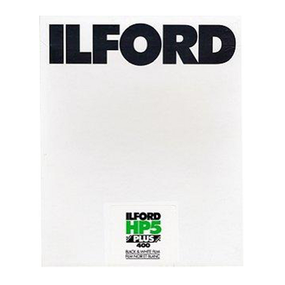 Ilford HP5+, 8x10, 25 Sheets, Black and White Film
