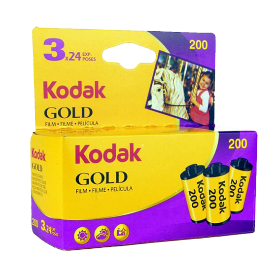 Kodak Gold 200, 35mm, 24 Exp., Color Film, 3 pack