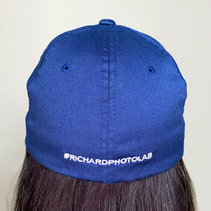 Richard Navy Fitted Baseball Cap