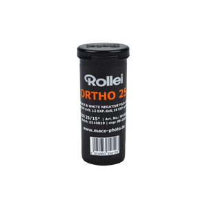 Rollei Ortho 25, 120, Black and White Film