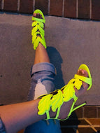Angel Baby Neon Yellow Heel