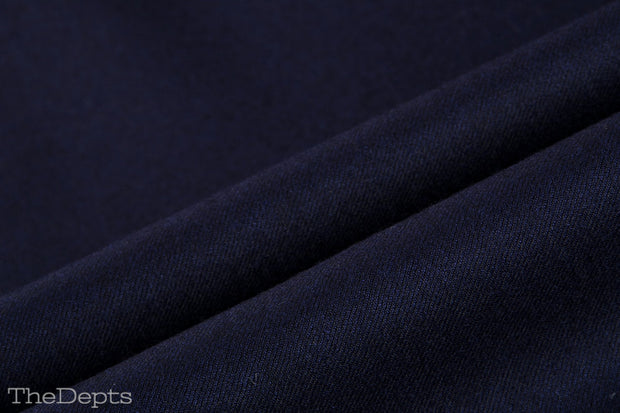 Navy Blue Solid Colored Standard Fit Wool Mens Suit - Peak Single Breasted Two-buttons