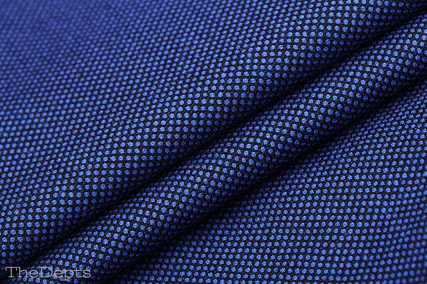 Royal Blue Solid Colored Standard Fit Wool Mens Suit - Notch Single Breasted Two-buttons
