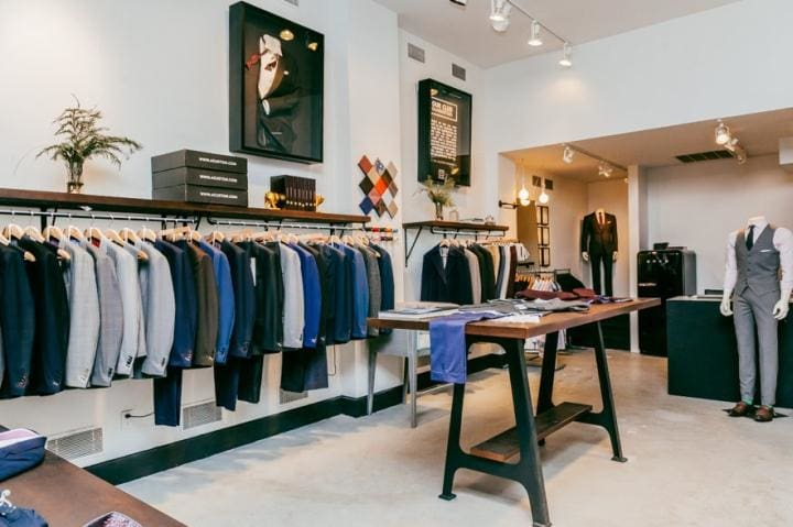 TheDepts men's tailoring shop in Asia